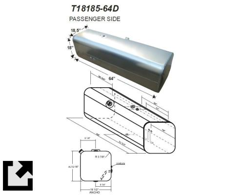 FREIGHTLINER M2 106 FUEL TANK #1520584 - For sale by LKQ